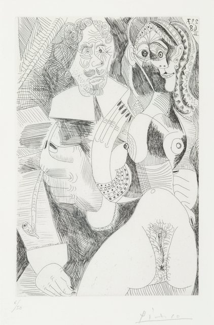Pablo Picasso, 'Plate 225, from La série des 347 gravures', 1968, Print, Etching on wove paper, Heritage Auctions