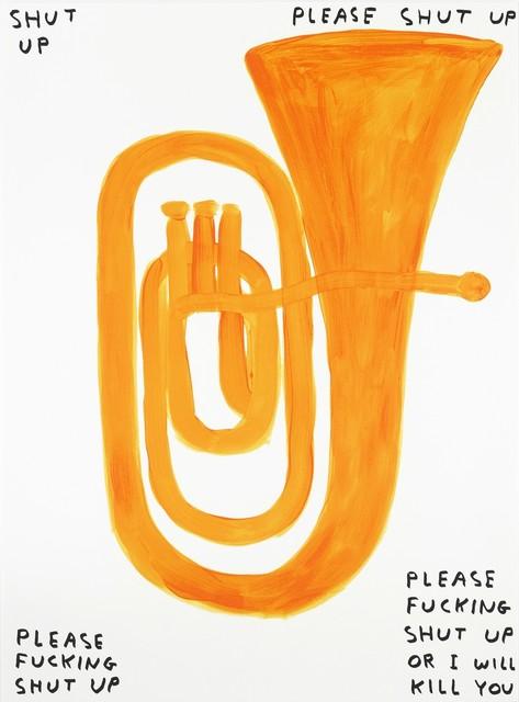 David Shrigley, 'Shut Up', 2018, RAW Editions Gallery Auction