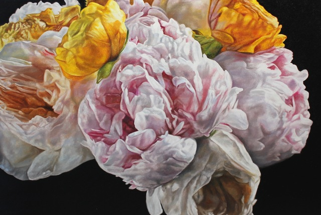 robert lemay, 'Peonies, Roses and Ranunculus', 2019, The Front Gallery