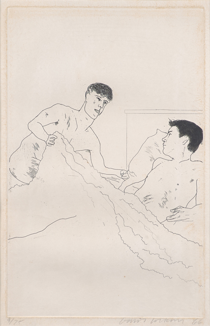 David Hockney, 'According to Prescription of Ancient Magicians from Illustrations for Fourteen Poems from C.P. Cavafy', 1966, Rago