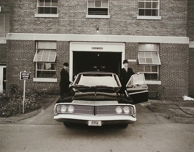, 'Morticians and Hearse, H Building, Morgue Work,' 1972, PDNB Gallery