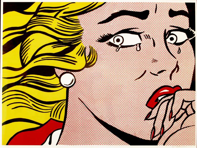 Roy Lichtenstein, 'Crying Girl', Print, Color silkscreen, Fine Art Auctions Miami