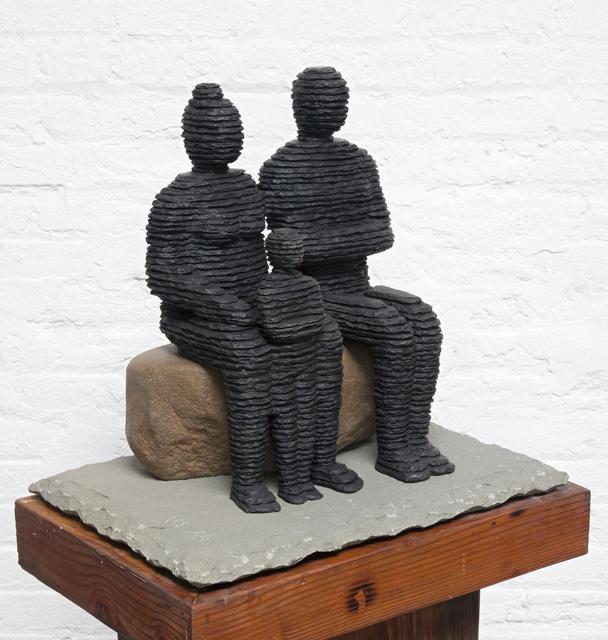 Boaz Vaadia, 'Family 1', 2017, Sculpture, Bronze, Boulder, and Bluestone, Zemack Contemporary Art