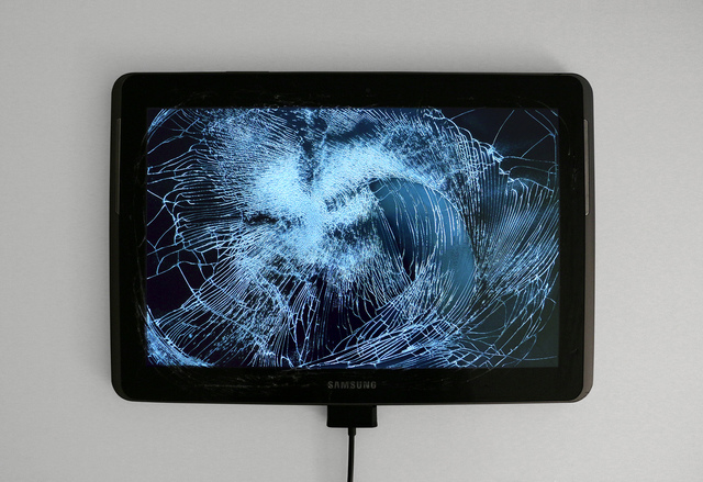 , 'Return of the Broken Screens (Samsung Galaxy Tab 2),' 2016, Steve Turner