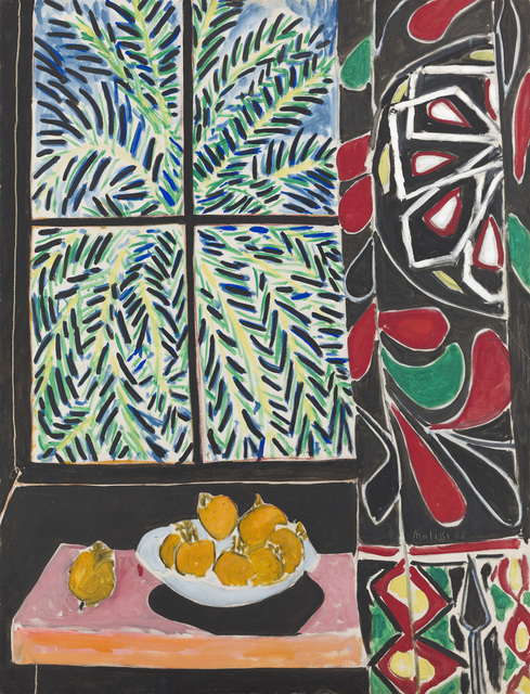 , 'Interior with Egyptian Curtain,' 1948, Museum of Fine Arts, Boston