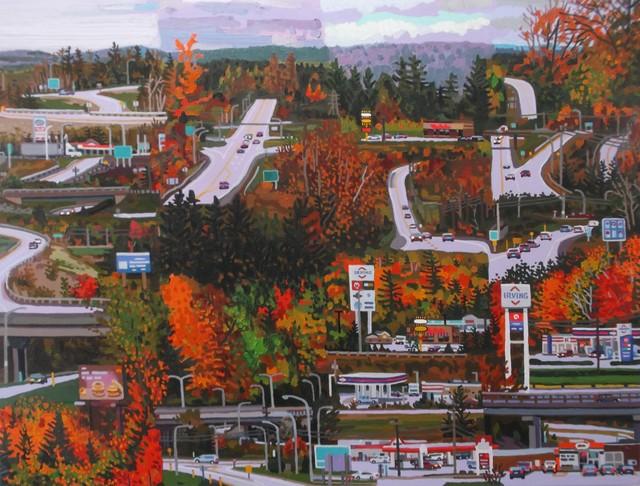 , 'It's a nice drive in the fall,' 2019, Studio 21 Fine Art