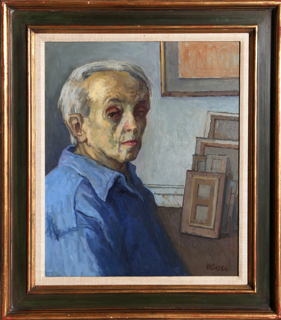 Moses Soyer, 'Self-Portrait in Studio', ca. 1960, RoGallery