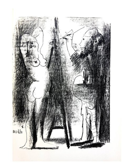 "Pablo Picasso, 'Original Lithograph ""The Painter and his Model II"" by Pablo Picasso', 1964, Galerie Philia"
