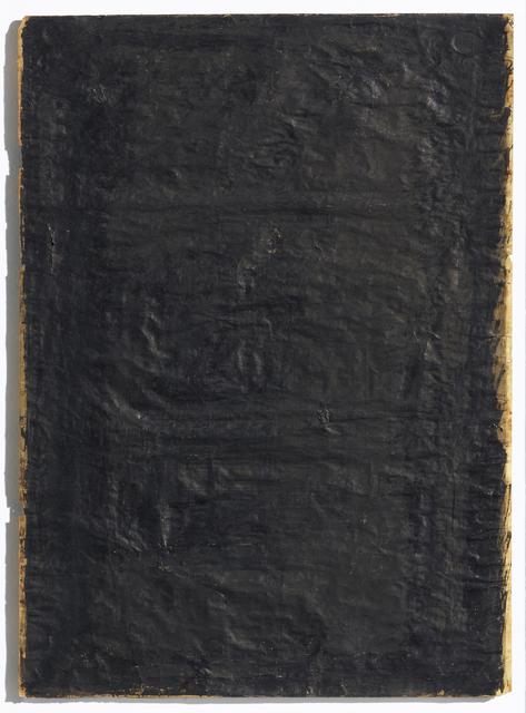 , 'Untitled (schwarze Zumalung),' 1957, Dierking
