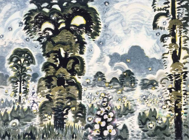 Charles Ephraim Burchfield, 'Fireflies and Lightning', 1964-1965, Montclair Art Museum