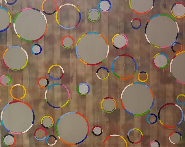 Petra Rös-Nickel, 'Funky Circles Grey', 2018, Gallery ART & LEF