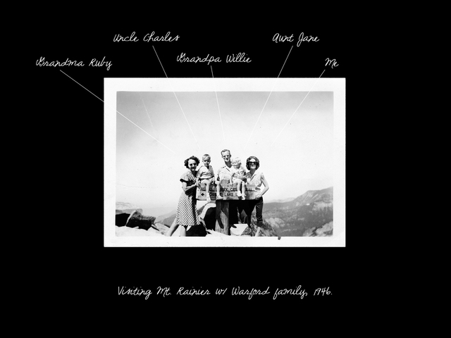 , 'Visiting Mount Rainier w/ Warford family, 1946,' 2011-2013, Wall Space Gallery