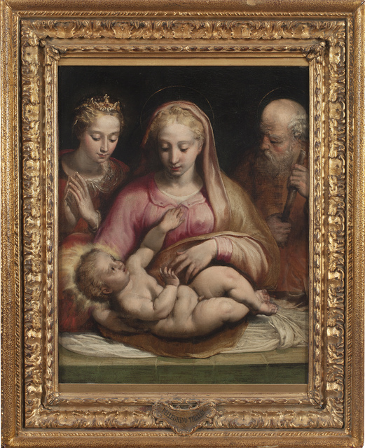 , 'Holy Family with Saint Catherine of Alexandria,' , Robert Simon Fine Art