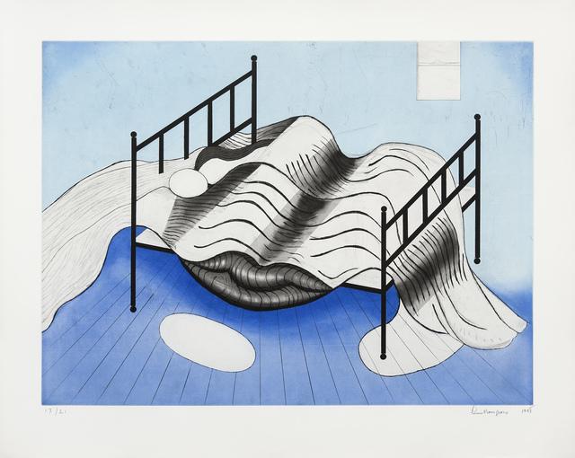 , 'Le lit (fond bleu),' 1998, Galerie Lelong & Co.
