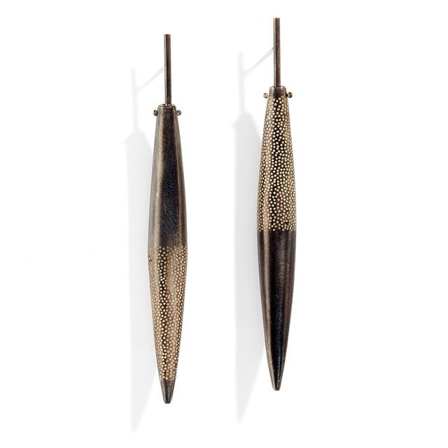 Sandra Enterline, 'Small Half Perforated Pod Earrings', ca. 2016, Patina Gallery