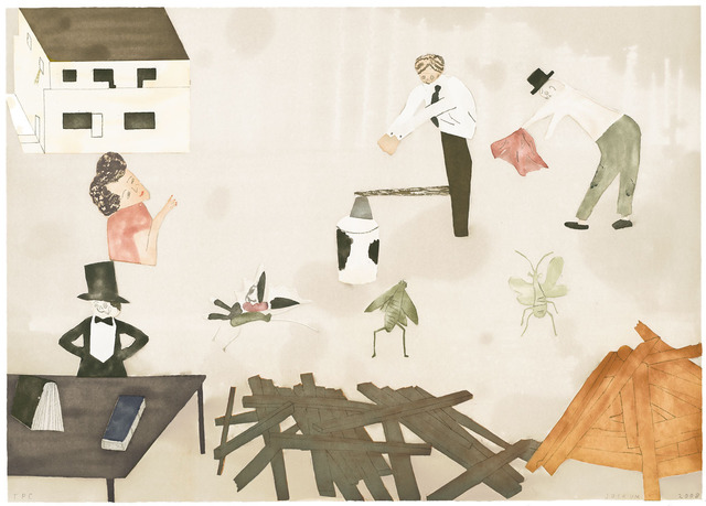 , 'House and Bugs,' 2008, Crown Point Press