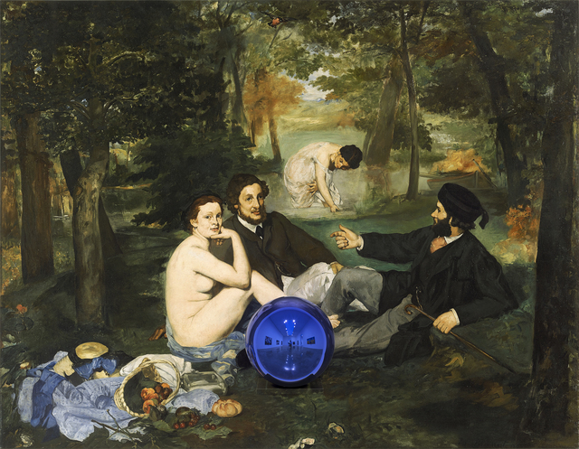 , 'Gazing Ball (Manet Luncheon on the Grass),' 2014-2015, Gagosian