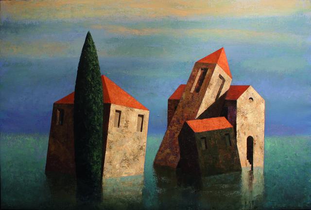 Matthias Brandes, 'Capriccio Lagunare', 2017, Painting, Oil and tempera on canvas, Galleria Punto Sull'Arte