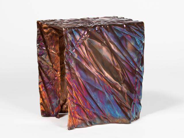 Christopher Prinz, 'Wrinkled Stool', 2018, Design/Decorative Art, Zinc plated steel, Patrick Parrish Gallery