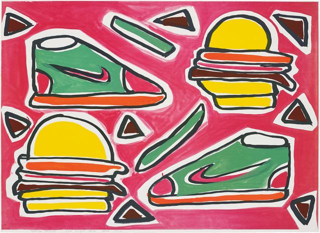 Katherine Bernhardt, 'Cheese Burger Deluxe', 2016, Phillips