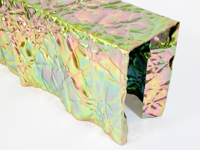 Christopher Prinz, 'Wrinkled Bench', 2017, Design/Decorative Art, Steel, zinc, Patrick Parrish Gallery