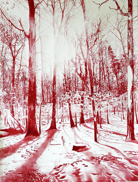 , 'Red forest,' 2016, Victor Lope Arte Contemporaneo