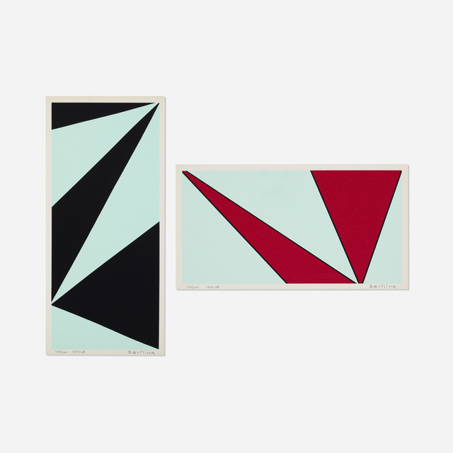 Olle Baertling, 'Untitled (two works from The Angles of Baertling - Open Form, Infinite Space portfolio)', 1956, 68/1957, 68, Print, Screenprint on paper, Rago/Wright