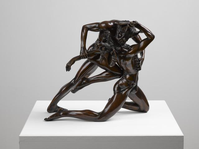 Raqib Shaw, 'Duo After Bouguereau', 2015, Sculpture, Bronze with Renaissance Patina, White Cube