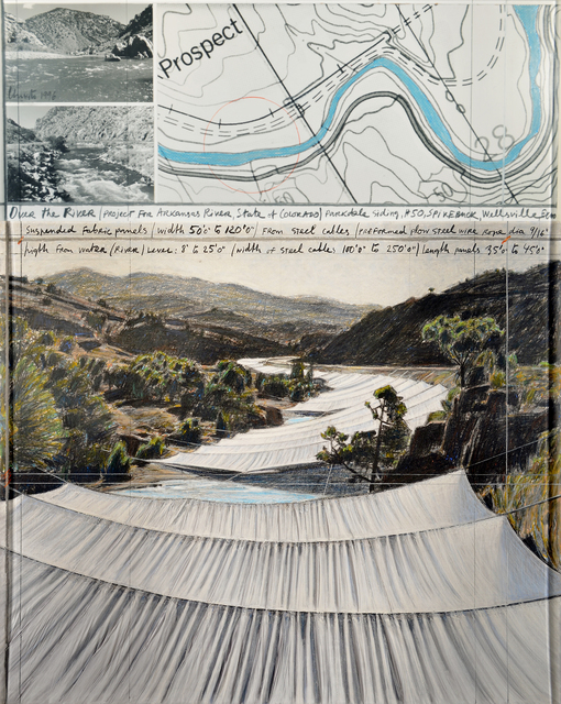 , 'Over the River, Project for Arkansas River, State of Colorado, Parkdale Siding, #42,' 1996, Repetto Gallery