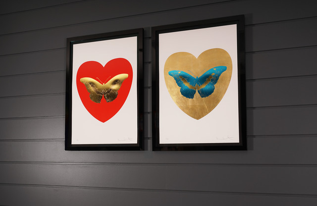 Damien Hirst, 'I Love You, Butterfly, Red & Gold', 2015, Print, Silkscreen, Gold Leaf, Foil Block, Arton Contemporary