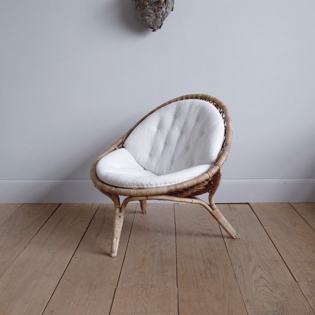 , 'RARE ORIGINAL NANNA DITZEL THREE-LEGGED LOUNGE CHAIR,' ca. 1951, Lawton Mull