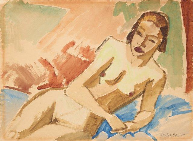 Max Pechstein, 'Weiblicher Akt', 1921, HELENE BAILLY GALLERY
