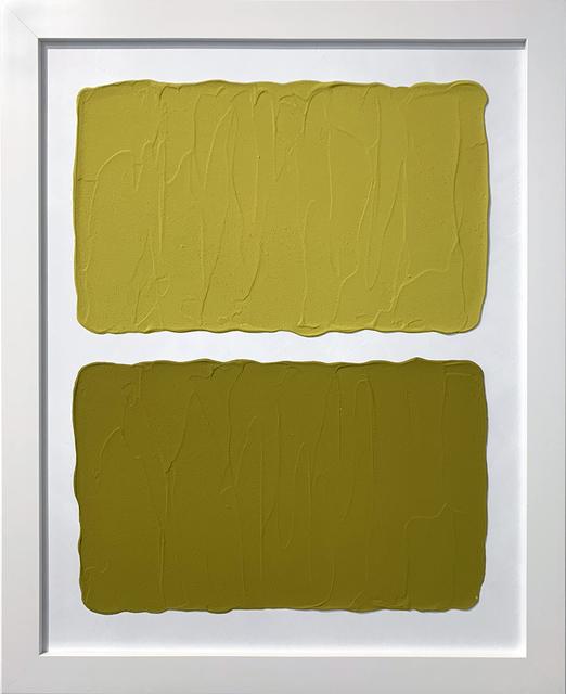 Laura Hapka, 'Flaxen Hotcakes', 2020, Mixed Media, Acrylic on mat board, Themes+Projects
