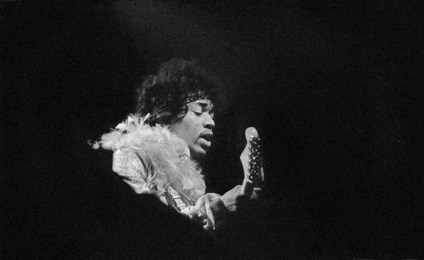 Jimi with Feathers