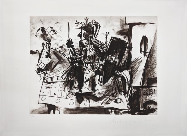 Pablo Picasso, 'CAVALIER EN ARMURE', 1979-1982, Reproduction, LITHOGRAPH, Gallery Art
