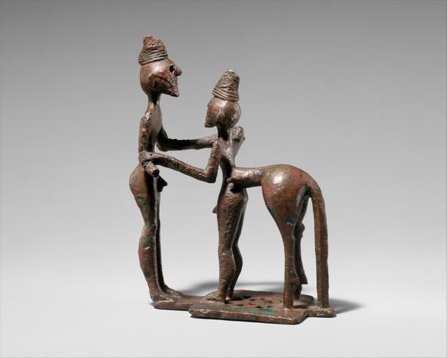 Unknown Greek, 'Bronze man and centaur', mid-8th century B.C., The Metropolitan Museum of Art