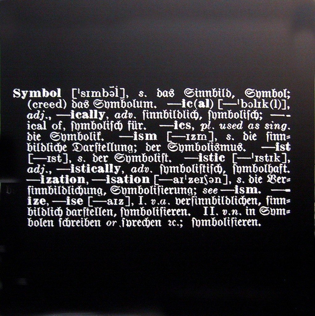 Joseph Kosuth Titled Art As Idea As Idea Symbol 1967