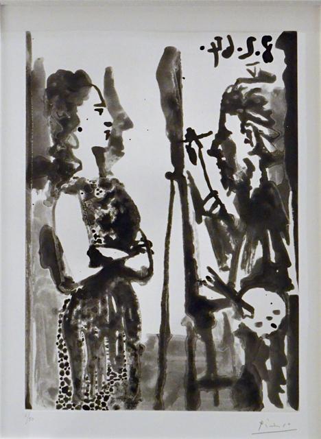 Pablo Picasso, 'Peintre Et Modele En Robe Imprimee ', 1964, Off The Wall Gallery