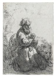 St. Jerome Kneeling in Prayer, Looking Down