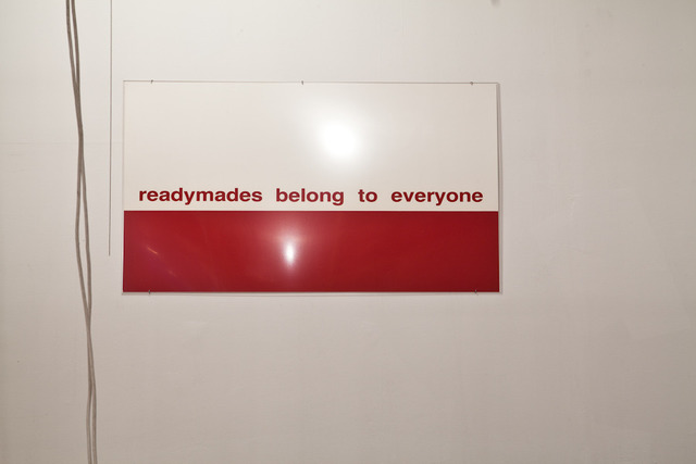 , 'Readymades belong to everyone® Untitled, ALAIN CLAIRET,' 1987, Artists Space
