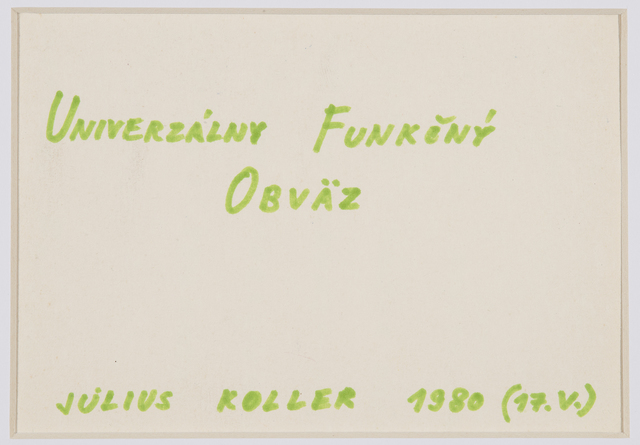 , 'Untitled (Univerzalny),' 1980, The Mayor Gallery