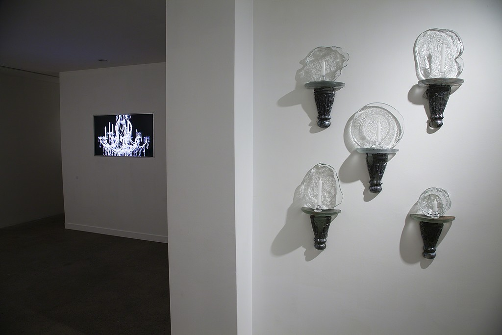 Installation View: The Lucent Parlor: Chapter II; Sconces