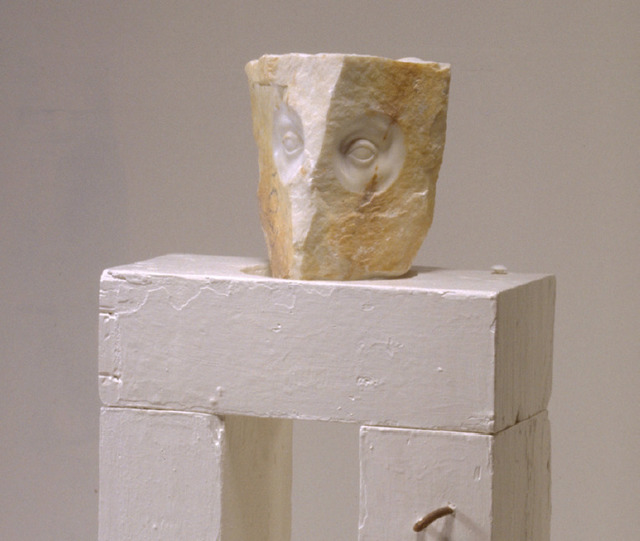 , 'Marble and Wood Sculpture,' 1990, Burning in Water