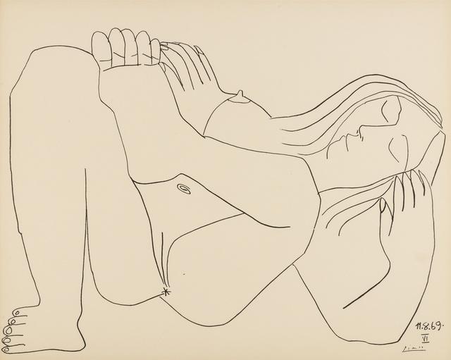 Pablo Picasso, 'Femme Nue, nos. 11.8.69, nos. I & VI', 1969, Print, Two lithgraphs, Forum Auctions