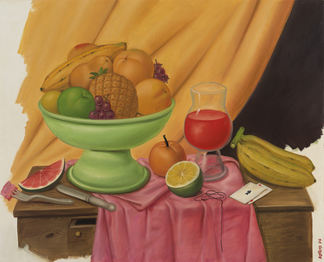 Fernando Botero, 'Still life with Playing Cards', 1994, Painting, Oil on canvas, Galerie Thomas