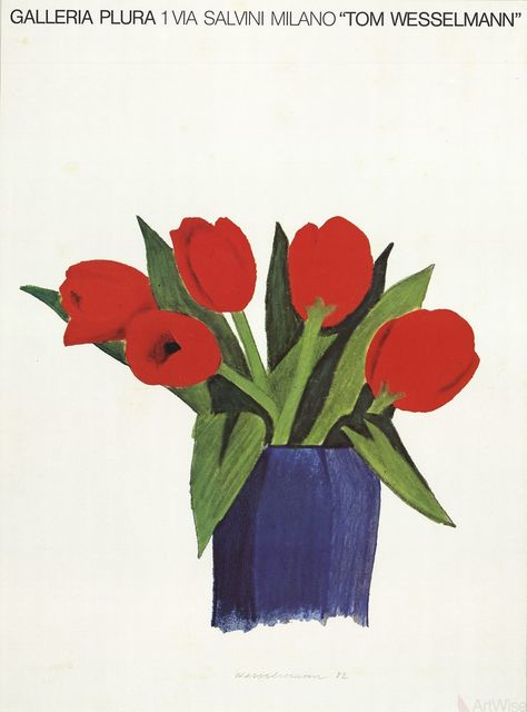 Tom Wesselmann, 'Tulips in a Vase', 1985, ArtWise