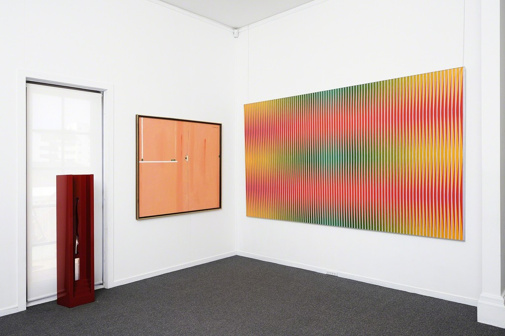 Edwin Tanner, Untitled, 1974 (middle)  Lesley Dumbrell, Solstice, 1974 (right)
