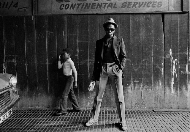 , 'Bagga (Bevin Fagan), Hackney, East London 1979. Lead singer of British reggae band Matumbi with the son of Dennis Bovel, founder of the band,' 1979, Autograph ABP