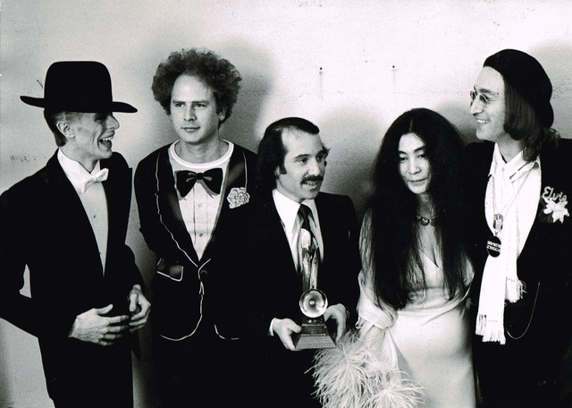 , 'David Bowie, Art Garfunkel, Paul Simon, Yoko Ono, and John Lennon at the Grammy Awards, New York,' 1975, Staley-Wise Gallery