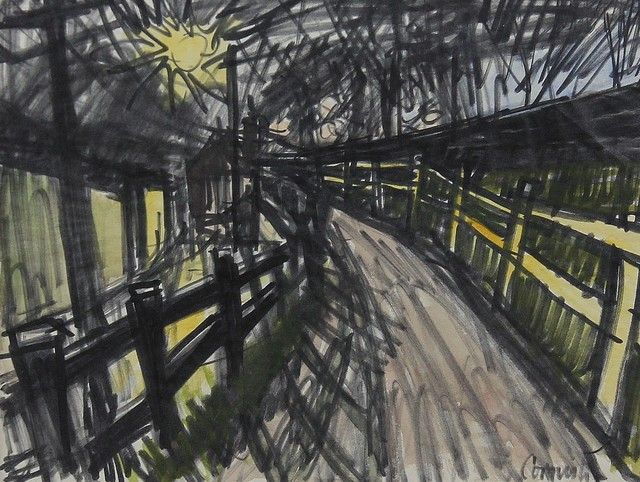 , 'Pit road at night,' , Castlegate House Gallery